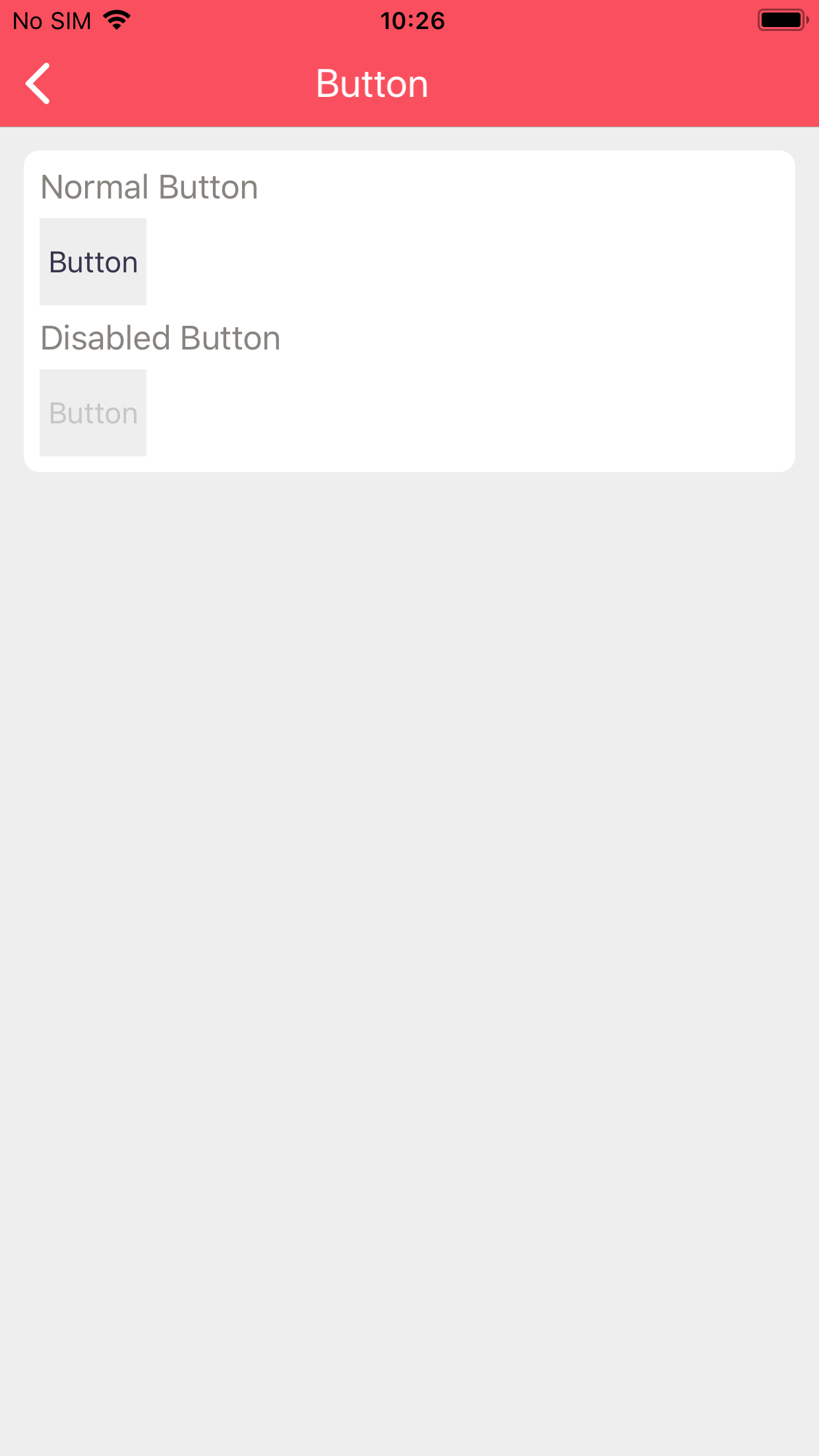 Buttons on iOS