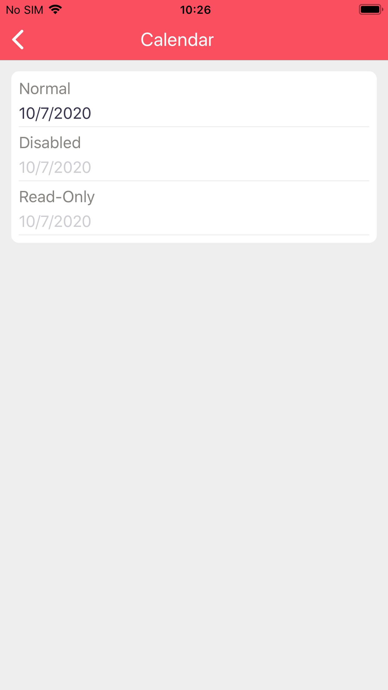 Calendar on iOS