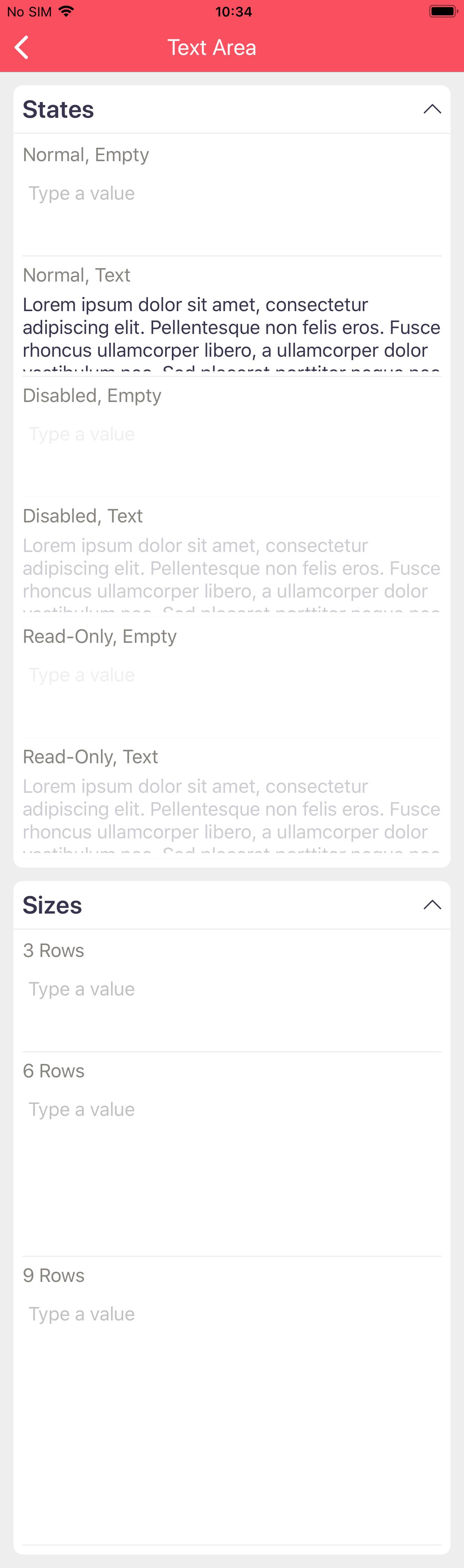 Text Area on iOS