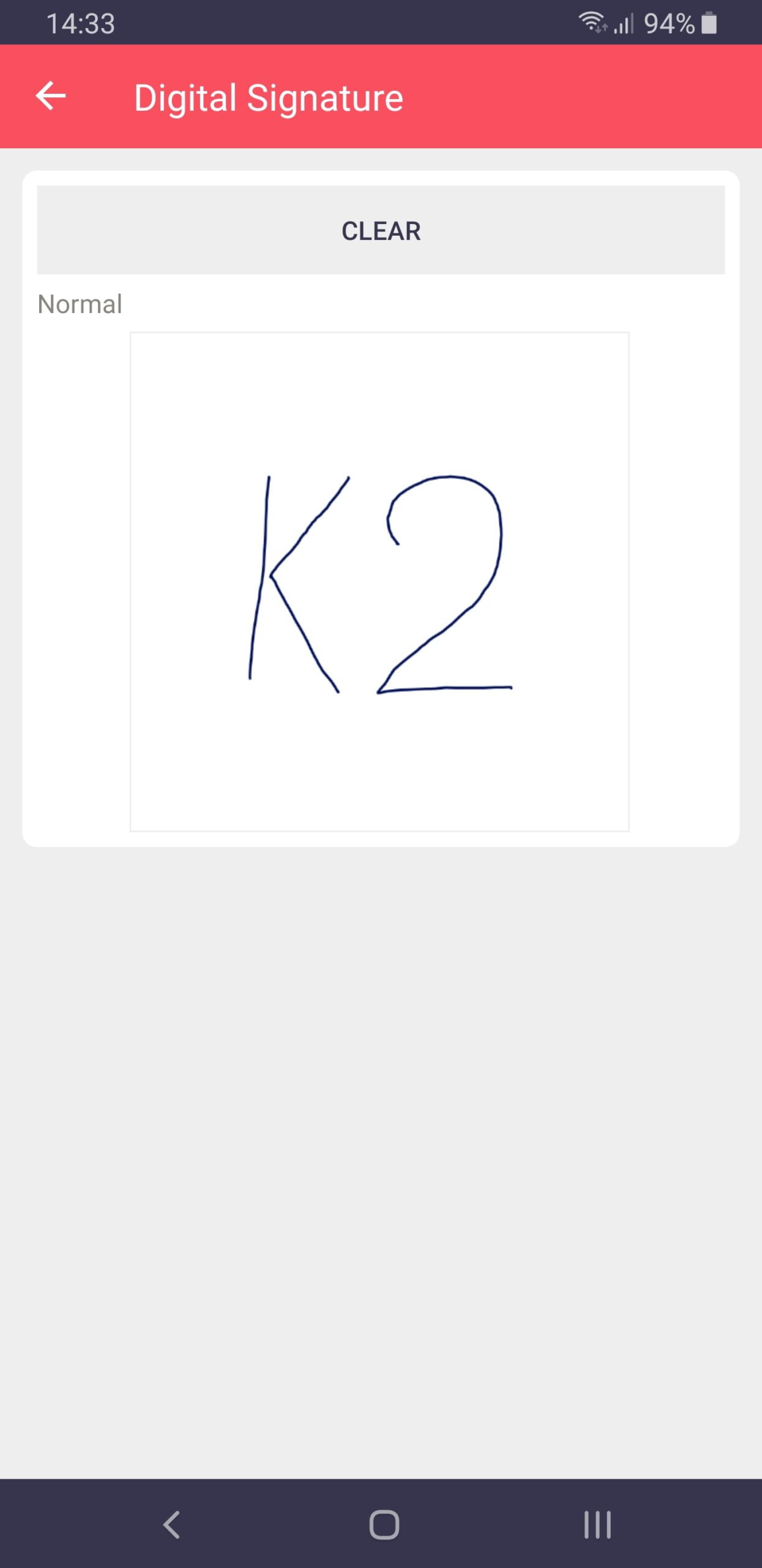 Filled Digital Signature on Android