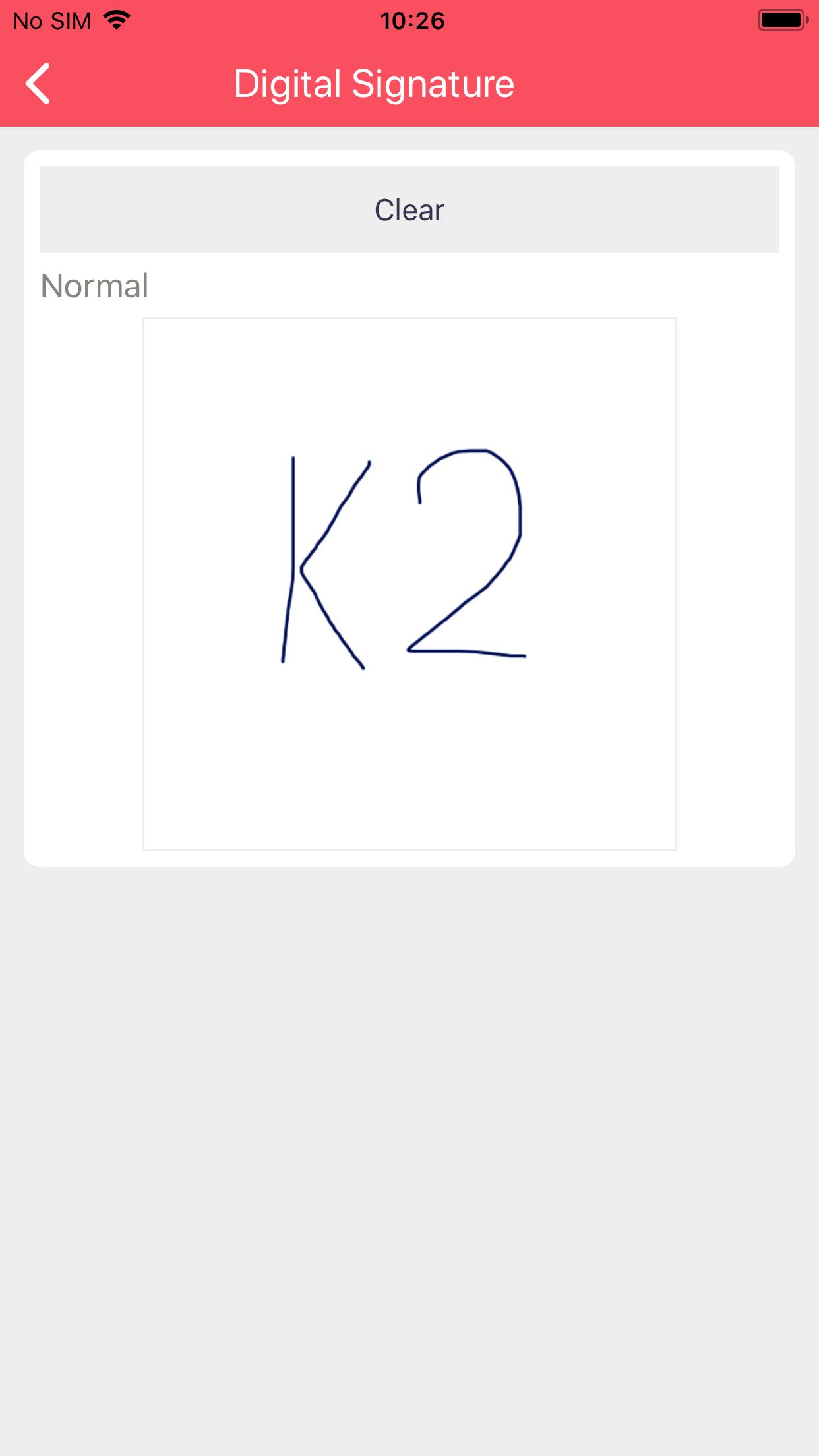 Filled Digital Signature on iOS